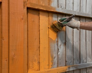 Fence staining benefits